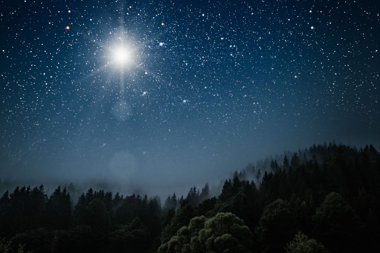 Sterne am Nachhimmel